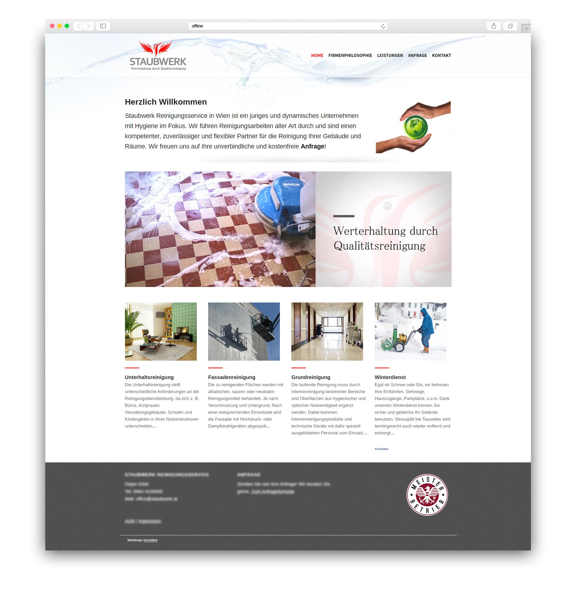Homepage Erstellung Für Reinigungsfirma Logodesign
